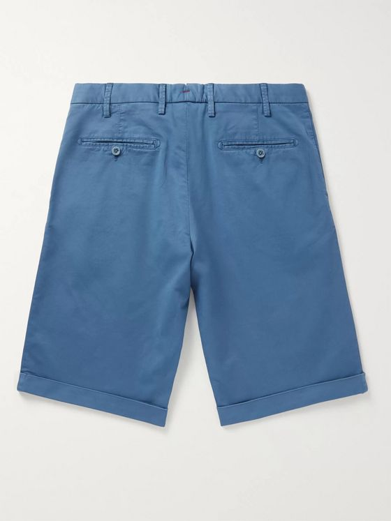 Isaia Slim-Fit Stretch-Cotton Twill Bermuda Shorts