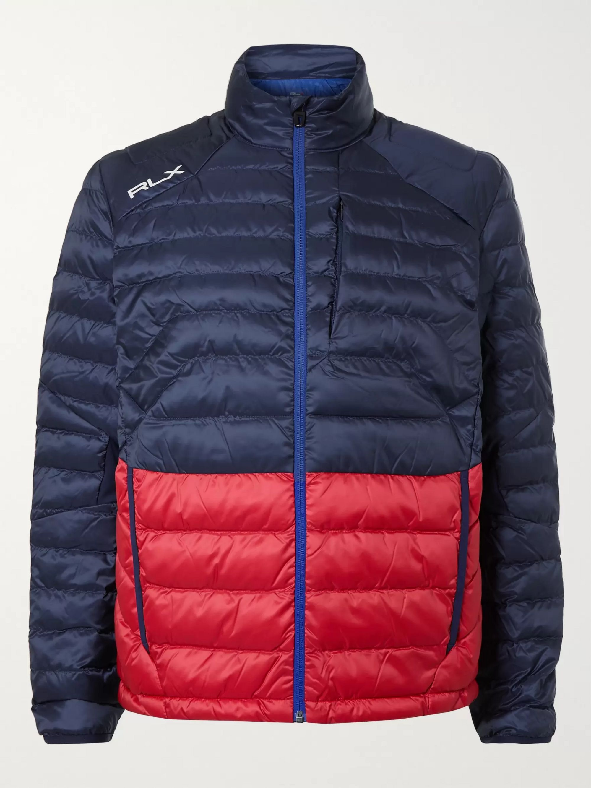 RLX Ralph Lauren Pivot Colour-Block Quilted Padded Shell Jacket