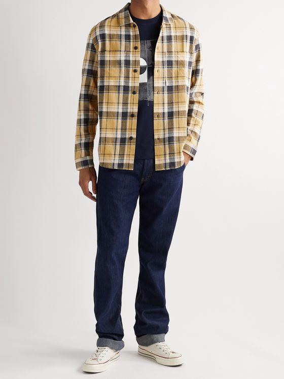 Folk Checked Cotton-Flannel Shirt