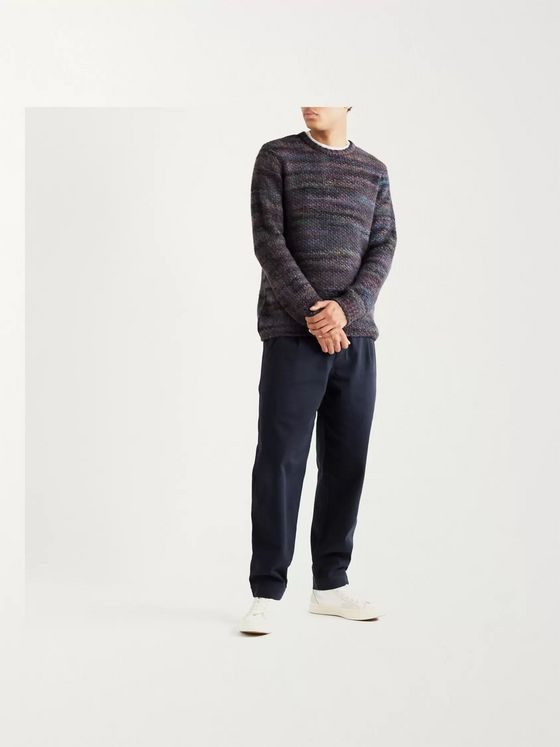 Folk Assembly Pleated Cotton-Twill Trousers