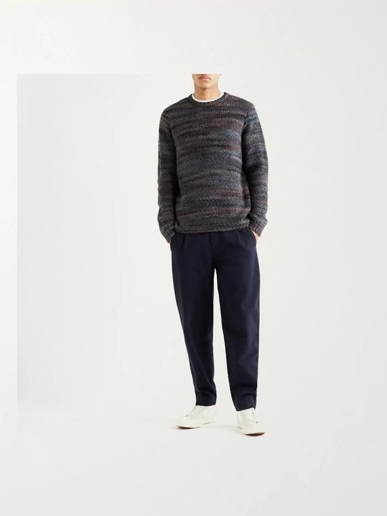 Folk Slim-Fit Knitted Sweater