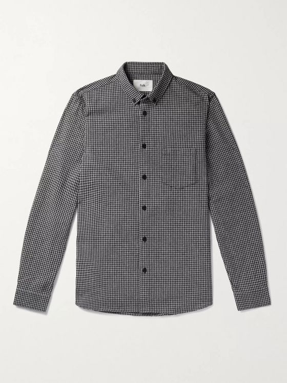 Folk Button-Down Collar Gingham Shirt