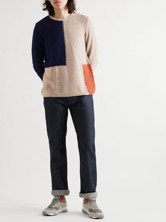 Folk Fracture Panelled Knitted Sweater