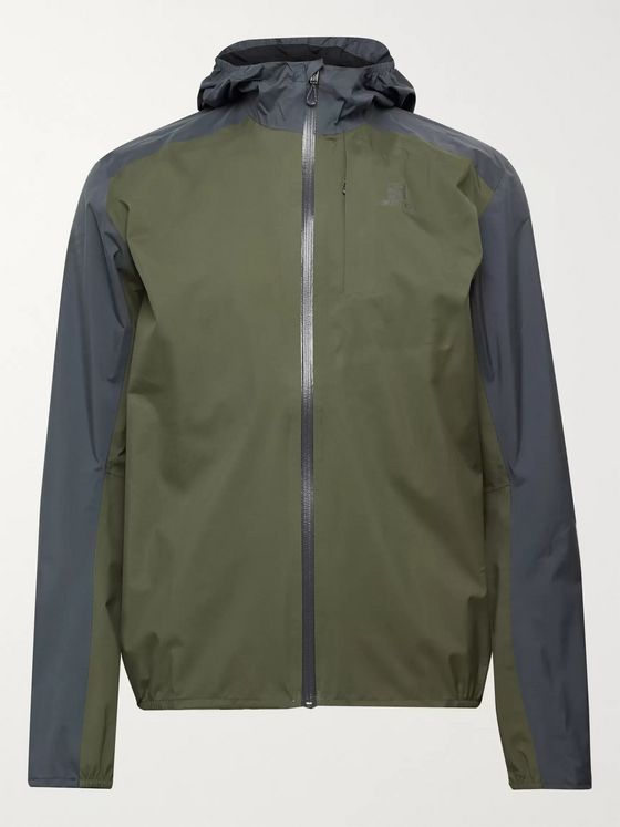 Salomon Bonatti Colour-Block Packable AdvanceSkin Dry Hooded Jacket