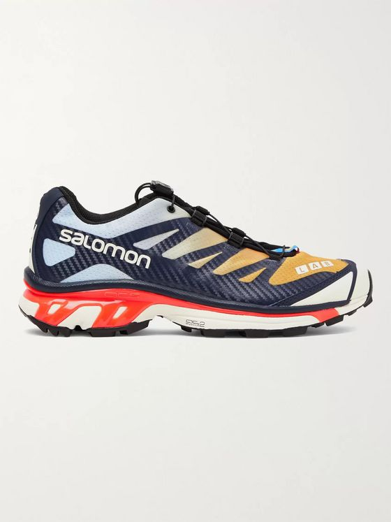 Salomon XT-4 Advanced Rubber-Trimmed Coated Mesh Running Sneakers