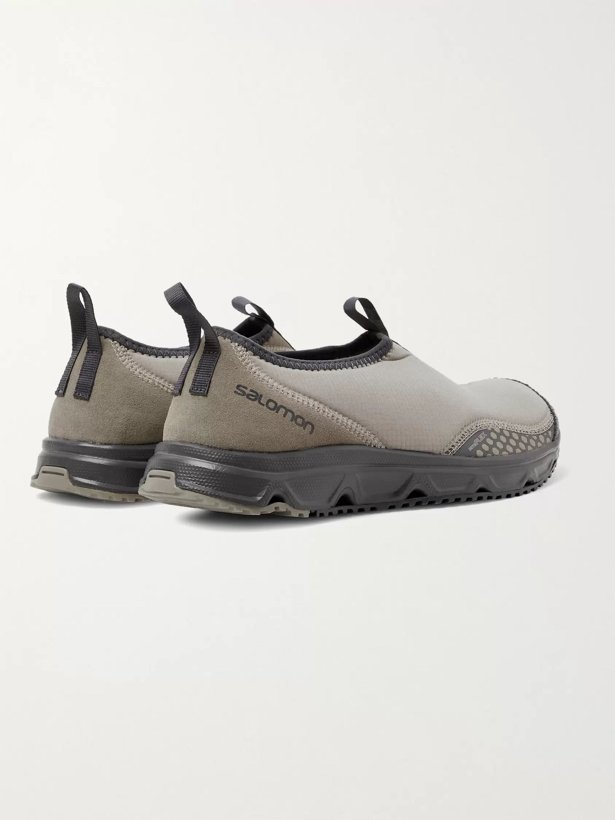 Beige Rx Snow Moc Advanced Ripstop, Suede And Rubber Sneakers | Salomon