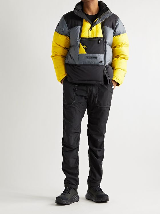 THE NORTH FACE Steep Tech Colour-Block Quilted Nylon-Ripstop Down Jacket