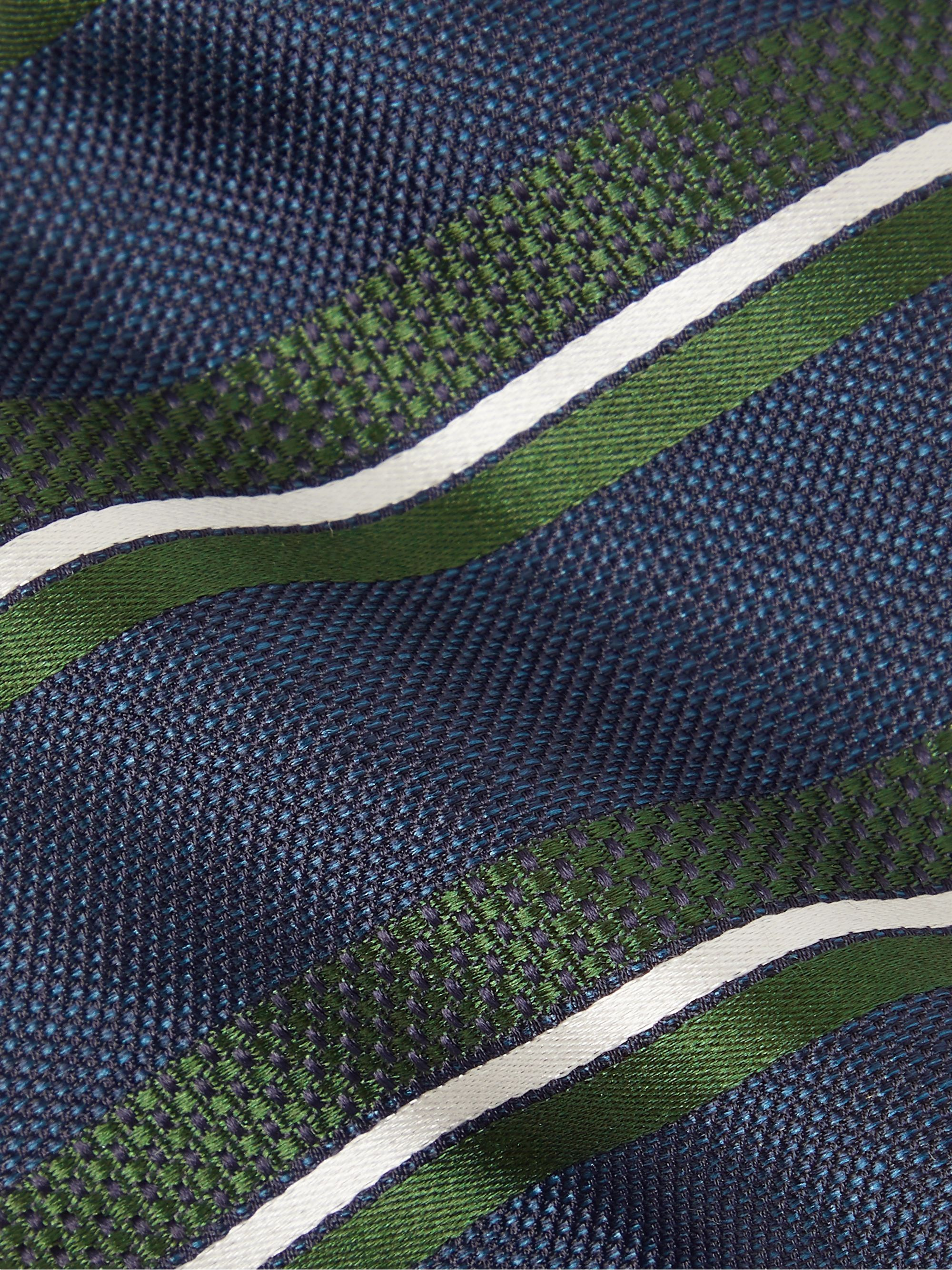 Bigi 8cm Striped Silk-Jacquard Tie