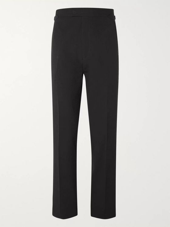 Maximilian Mogg Slim-Fit Cotton-Seersucker Suit Trousers