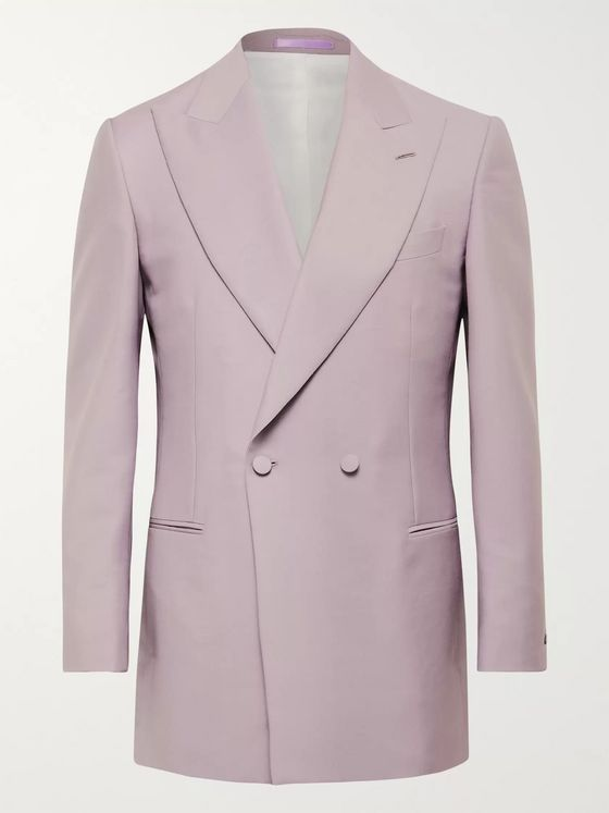 Maximilian Mogg Double-Breasted Mohair and Wool-Blend Tuxedo Jacket