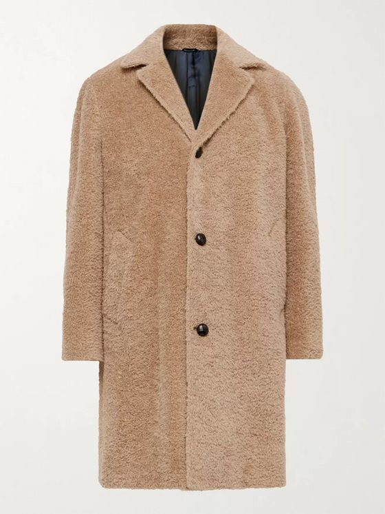 MP Massimo Piombo Cotton, Alpaca and Mohair-Blend Overcoat