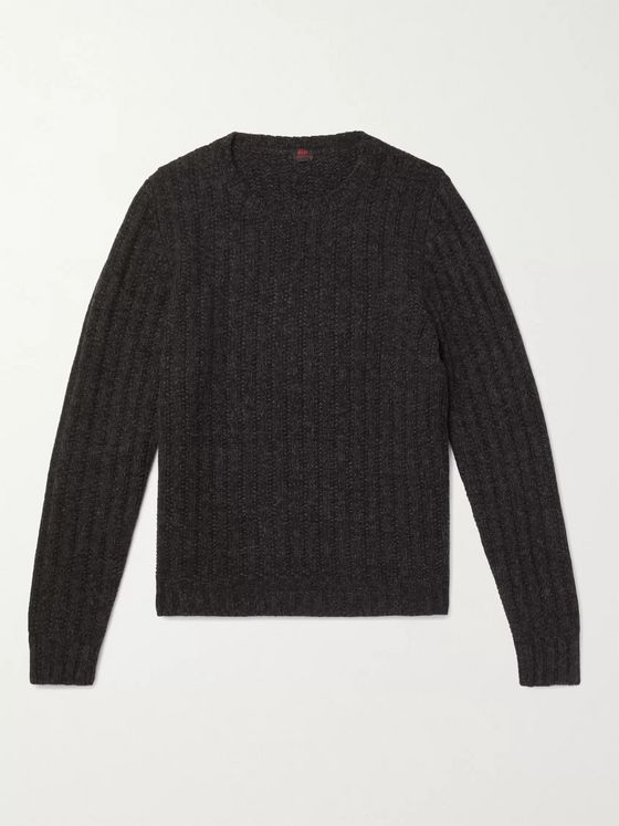 MP Massimo Piombo Ribbed Merino Wool Sweater