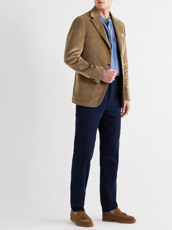 Caruso Butterfly Cotton-Blend Corduroy Suit Jacket