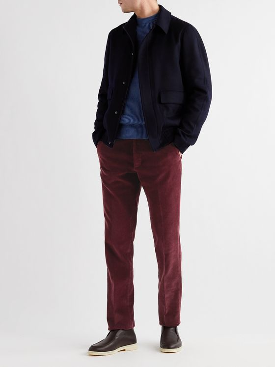 MP Massimo Piombo Slim-Fit Cotton-Corduroy Trousers