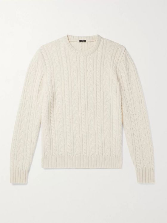 KITON Cable-Knit Cashmere Sweater