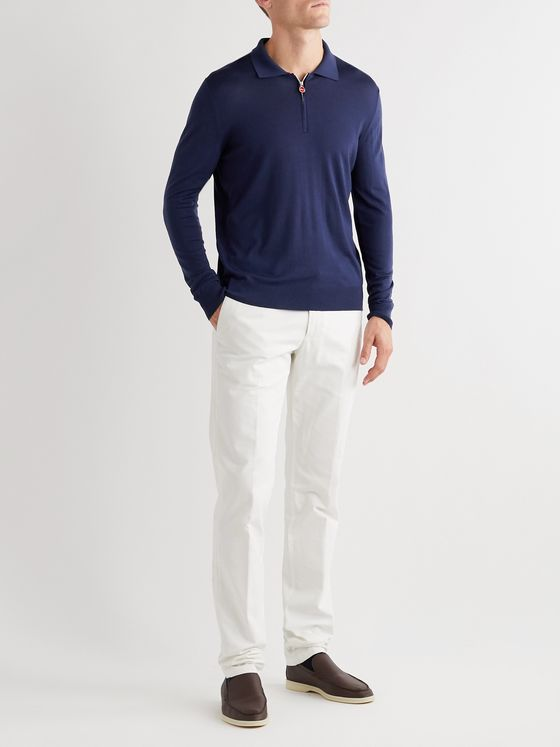 KITON Wool Half-Zip Sweater