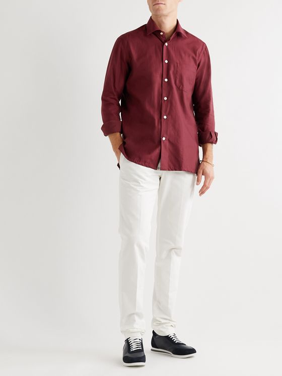 KITON Slim-Fit Cotton-Twill Shirt