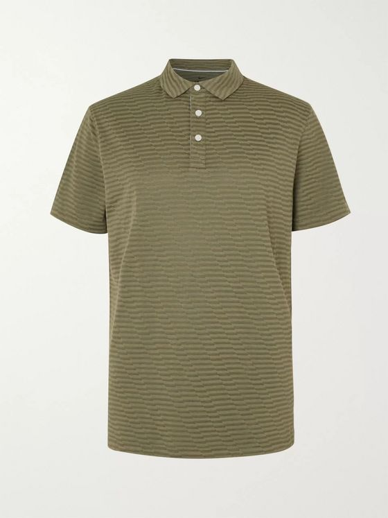 Nike Golf Striped Dri-FIT Cotton-Blend Piqué Golf Polo Shirt