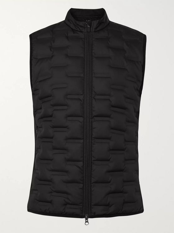 Nike Golf Aeroloft Repel Padded Quilted Shell and Fleece Golf Gilet