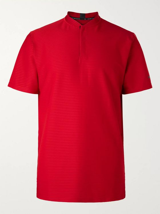 Nike Golf Tiger Woods Ribbed Dri-FIT Stretch-Jersey Golf Polo Shirt