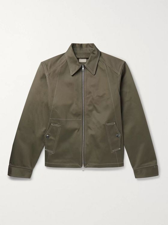 L.E.J Contrast-Stitched Cotton-Twill Bomber Jacket