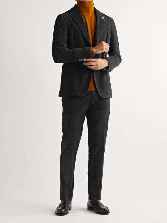 Lardini Slim-Fit Cotton-Blend Corduroy Suit Trousers