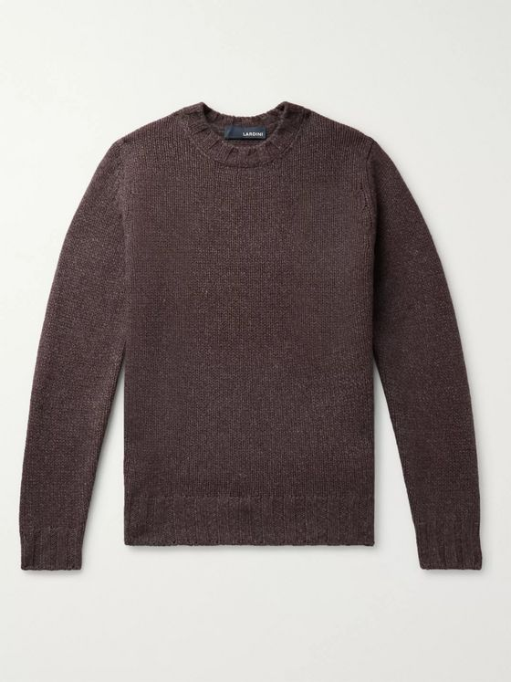 Lardini Slim-Fit Yak and Wool-Blend Sweater