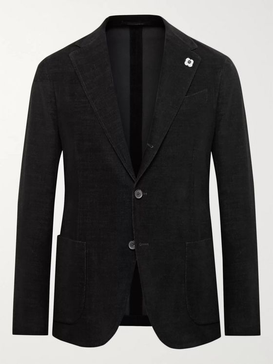 Lardini Slim-Fit Cotton-Blend Corduroy Blazer