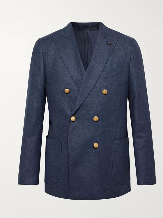Lardini Double-Breasted Wool Blazer