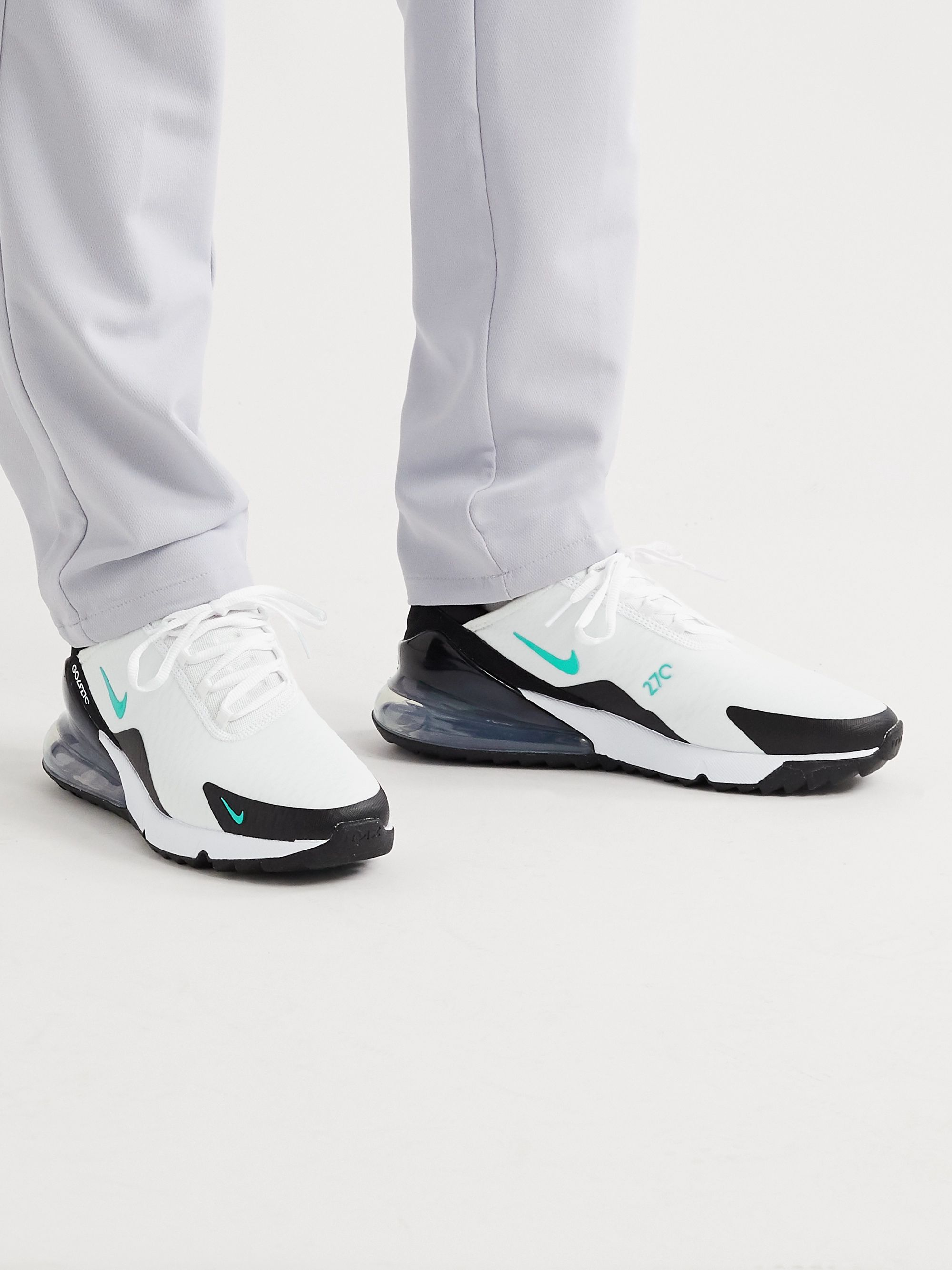 White Air Max 270 G Rubber Trimmed Coated Mesh Golf Shoes Nike Golf Mr Porter