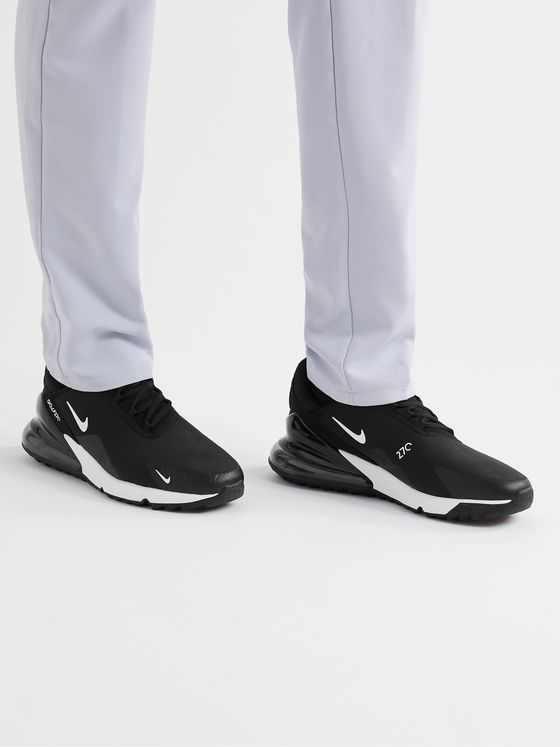 NIKE GOLF Air Max 270 G Rubber-Trimmed Ripstop and Mesh Golf Shoes