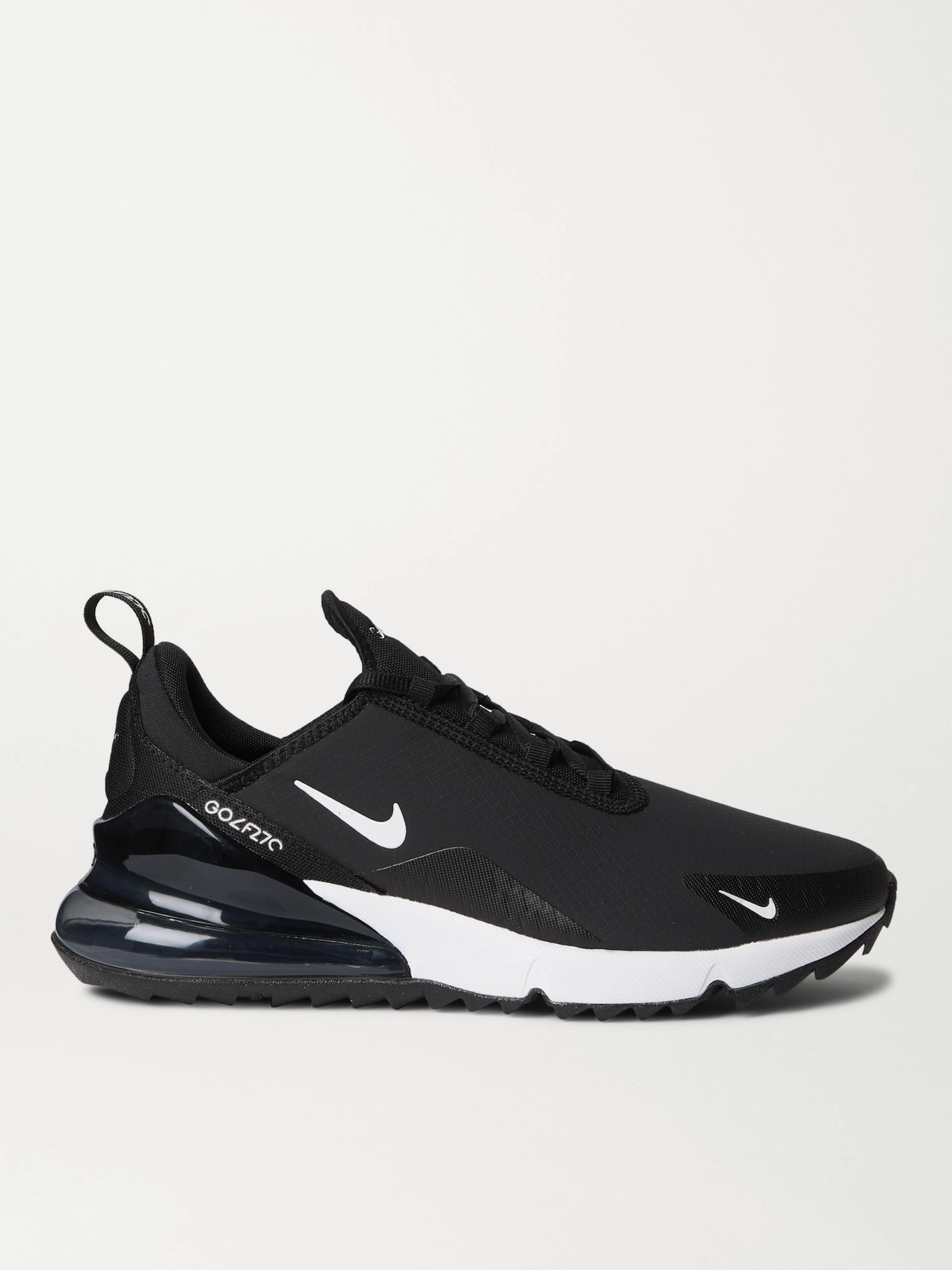 Black Air Max 270 G Rubber Trimmed Ripstop And Mesh Golf Shoes Nike Golf Mr Porter