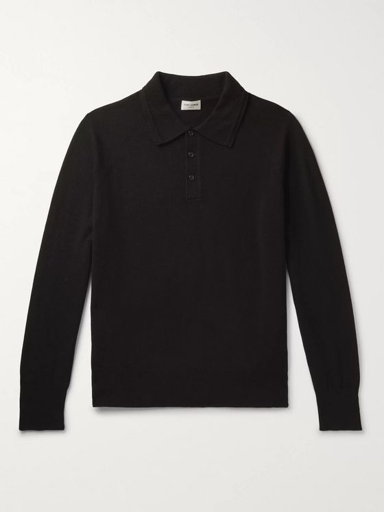 SAINT LAURENT Cashmere Polo Shirt