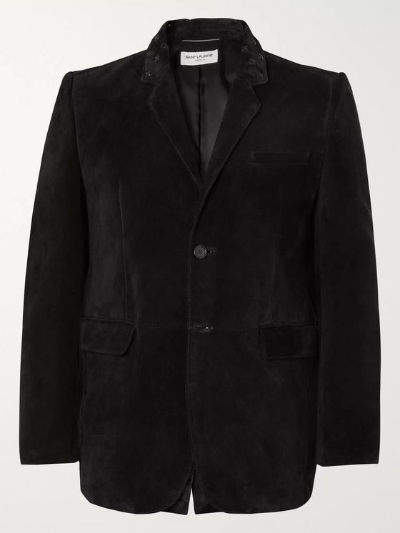 SAINT LAURENT Suede Blazer