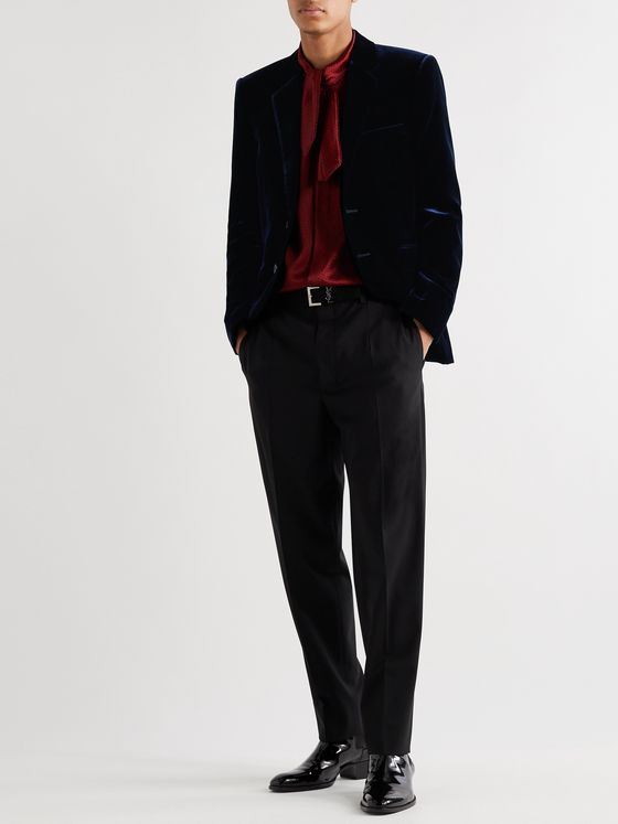 SAINT LAURENT Slim-Fit Velvet Blazer