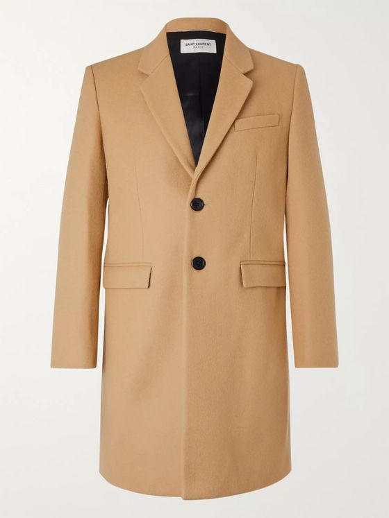 SAINT LAURENT Slim-Fit Wool Overcoat