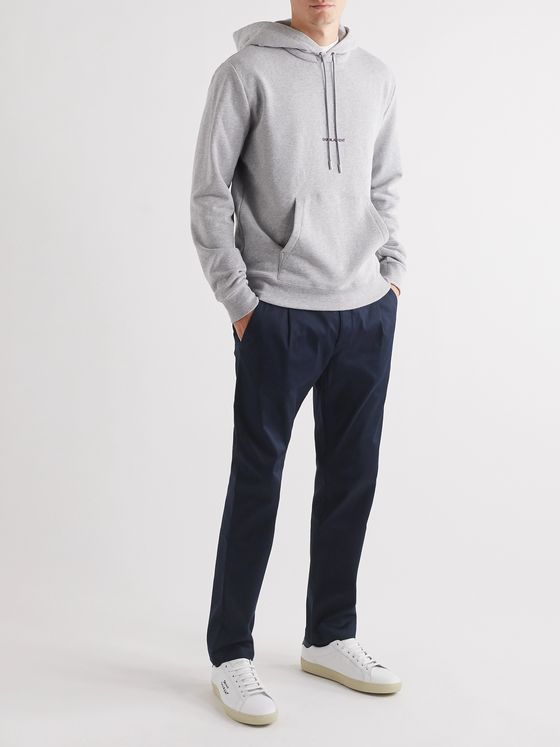 SAINT LAURENT Tapered Cotton-Blend Twill Chinos