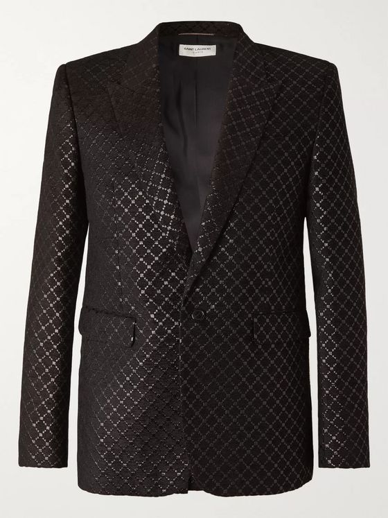 SAINT LAURENT Metallic Jacquard Blazer
