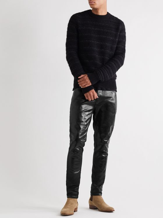 SAINT LAURENT Skinny-Fit Stretch Coated-Denim Jeans