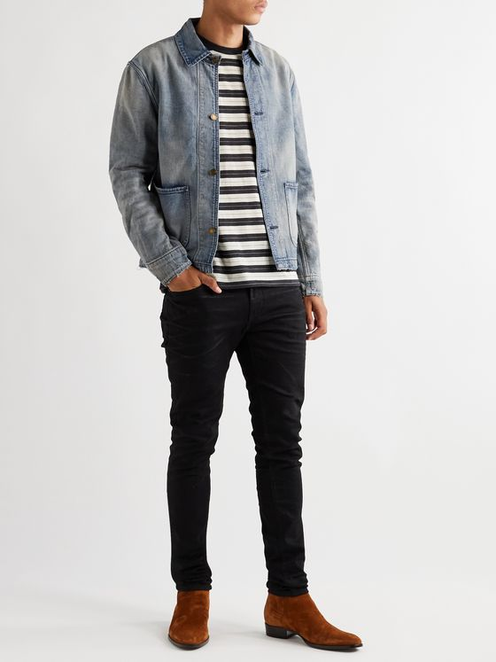 SAINT LAURENT Distressed Denim Jacket