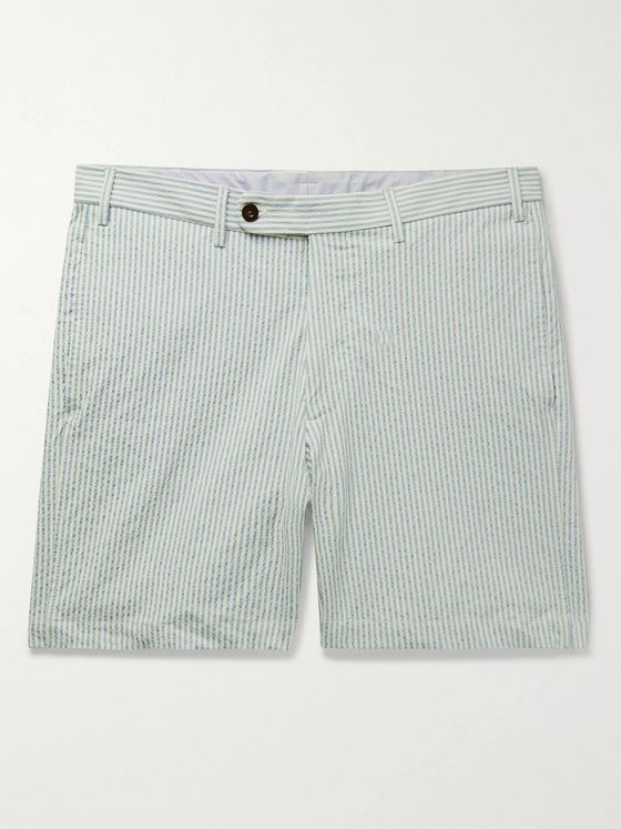 Sid Mashburn Striped Cotton-Blend Seersucker Shorts