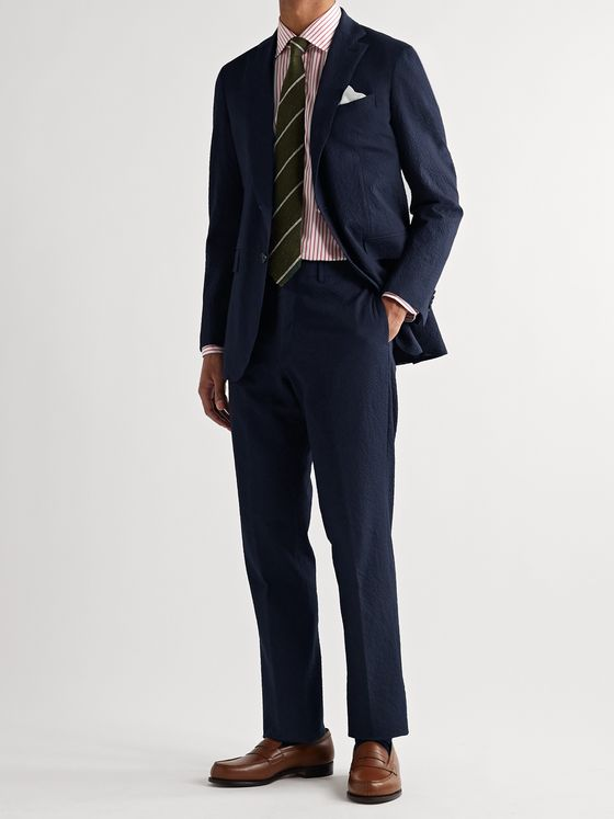 Sid Mashburn Kincaid No. 3 Slim-Fit Stretch-Cotton Seersucker Suit