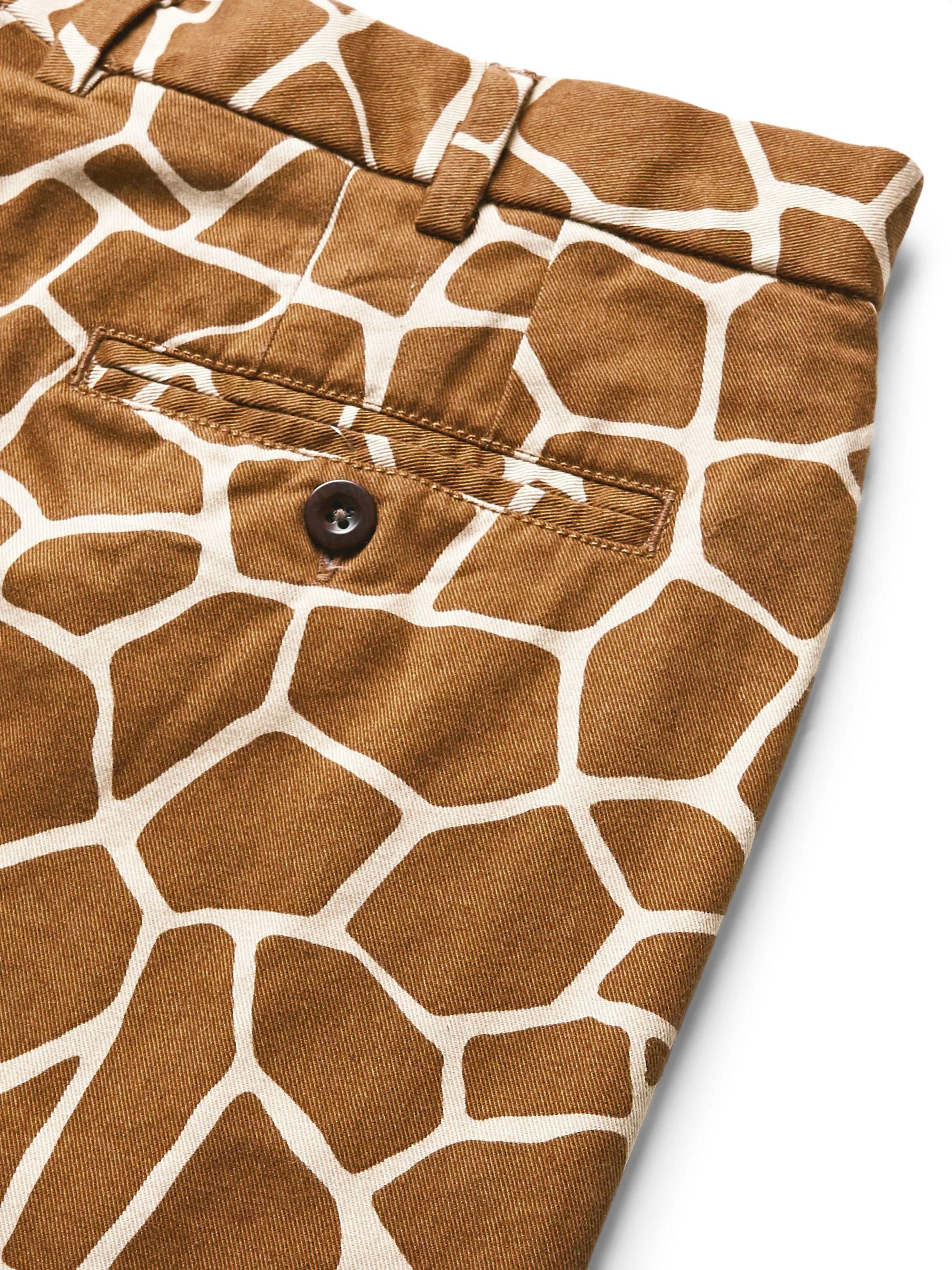 Brown Printed Cotton-twill Trousers | Sid Mashburn