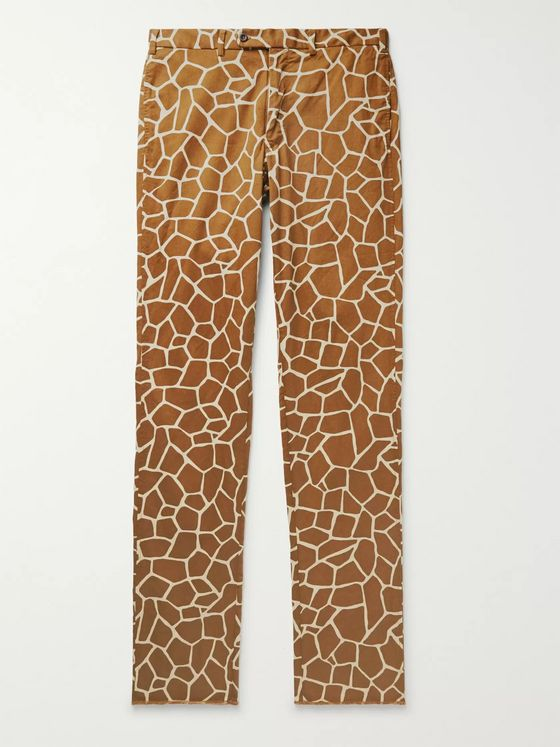 Sid Mashburn Printed Cotton-Twill Trousers