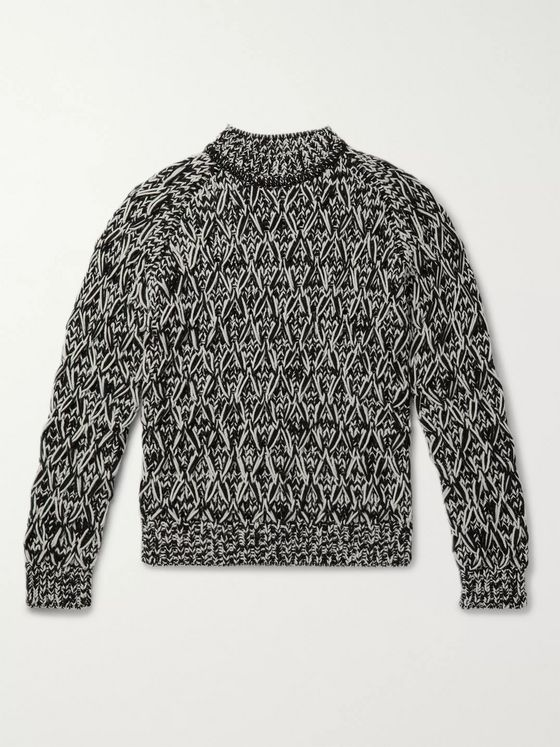 SAINT LAURENT Textured-Wool Sweater