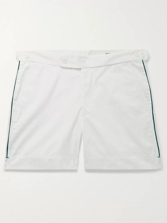 Sid Mashburn Piped Cotton-Blend Twill Shorts