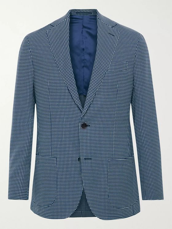 Sid Mashburn Slim-Fit Checked Cotton-Hopsack Blazer