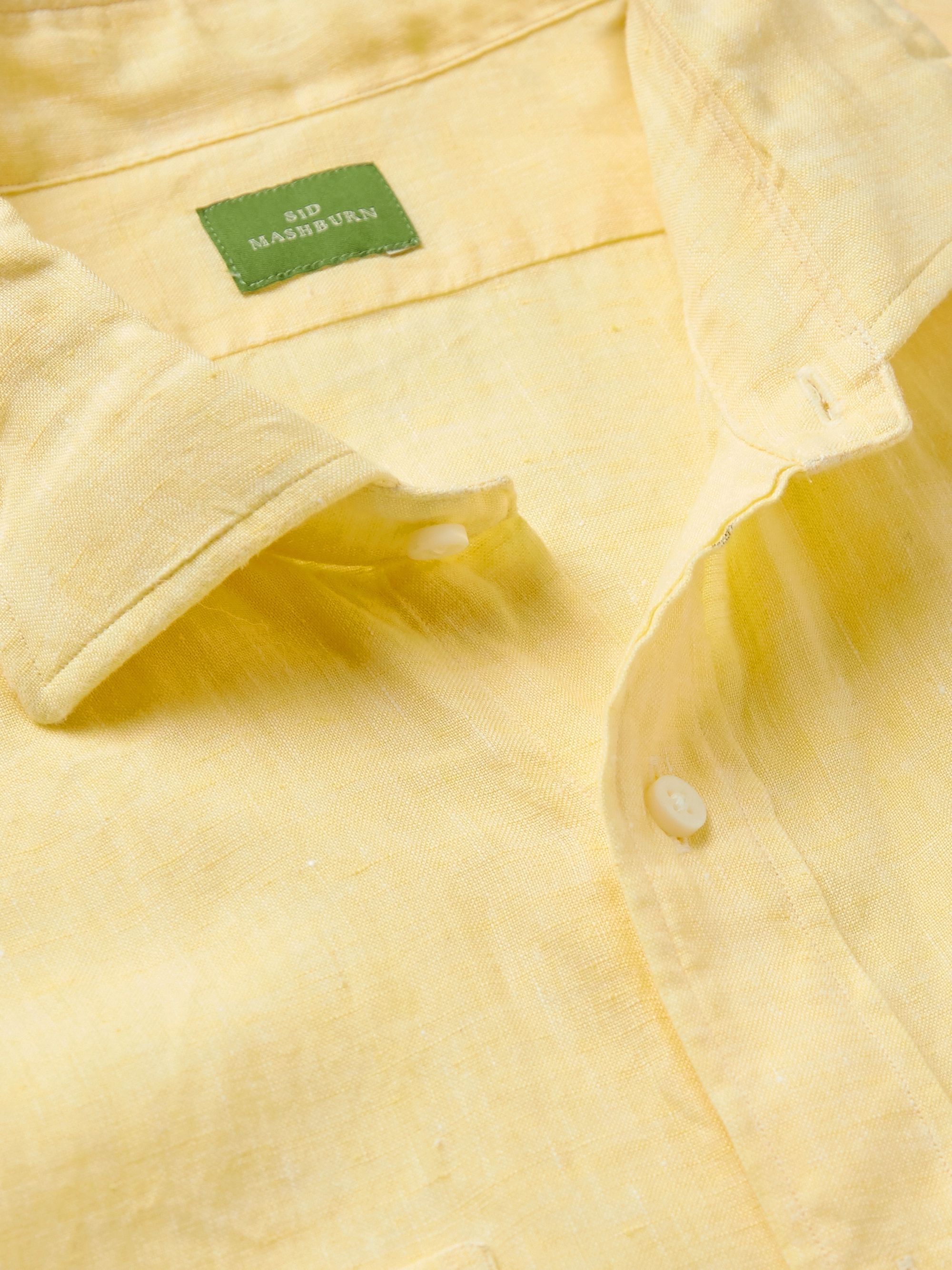 Yellow Marquez Cotton Shirt | Sid Mashburn