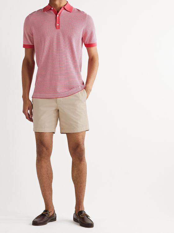 Sid Mashburn Striped Cotton Polo Shirt