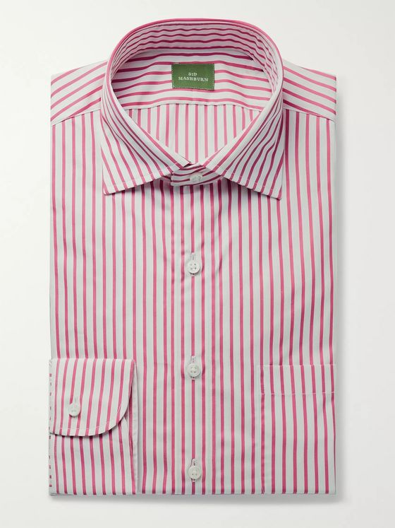Sid Mashburn Button-Down Collar Striped Cotton-Poplin Shirt